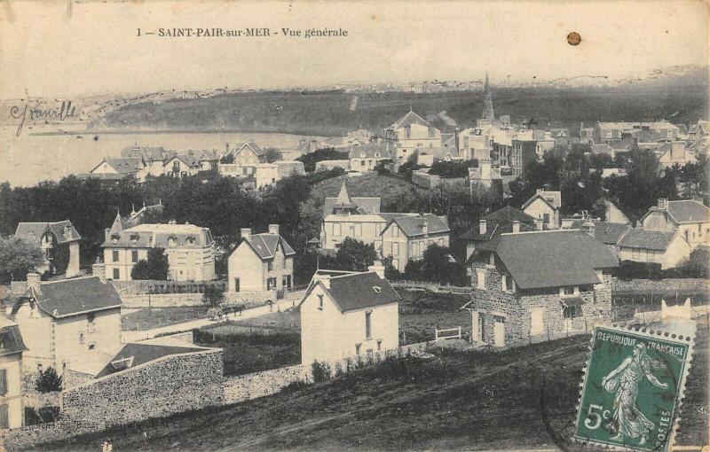 Carte postale ancienne Saint Pair Sur Mer Vue Generale à Saint-Pair-sur-Mer