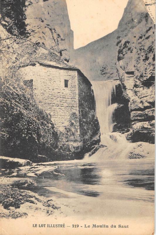 Carte postale ancienne Rocamadour Le Moulin Du Saut à Rocamadour