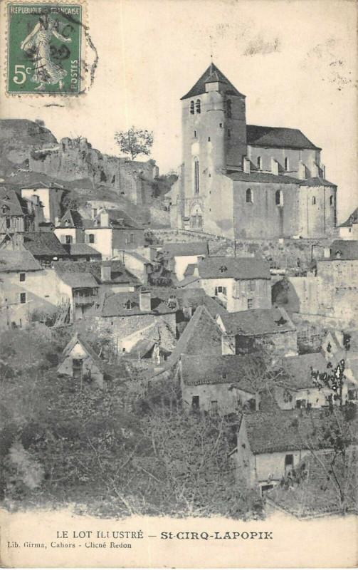 Carte postale ancienne Saint Cirq Lapopie à Saint-Cirq-Lapopie