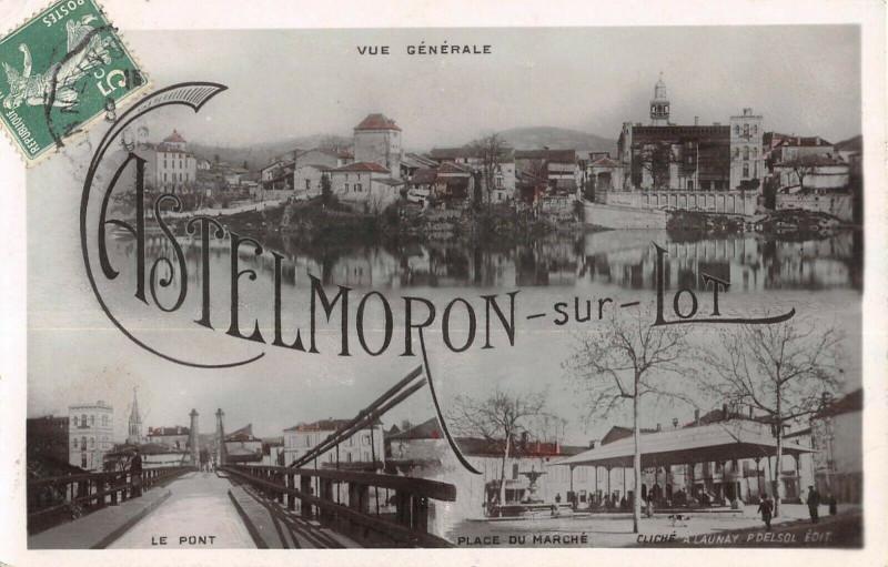 Carte postale ancienne Castelmoron Sur Lot à Castelmoron-sur-Lot
