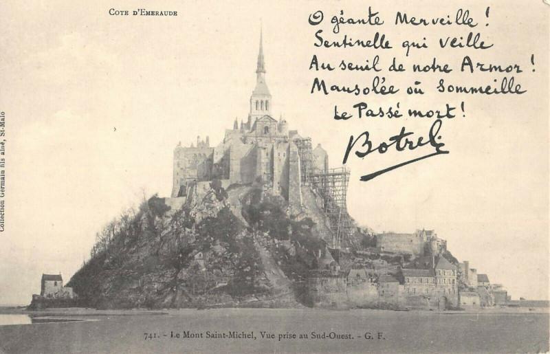 Carte postale ancienne Le Mont Saint Michel Vue Prise Au Sud Ouest au Mont-Saint-Michel