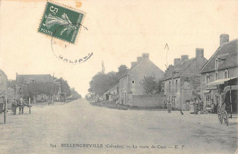 Carte postale ancienne Bellengreville La Route De Caen à Bellengreville