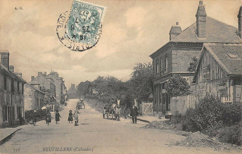 Carte postale ancienne Beuvillers Calvados à Beuvillers