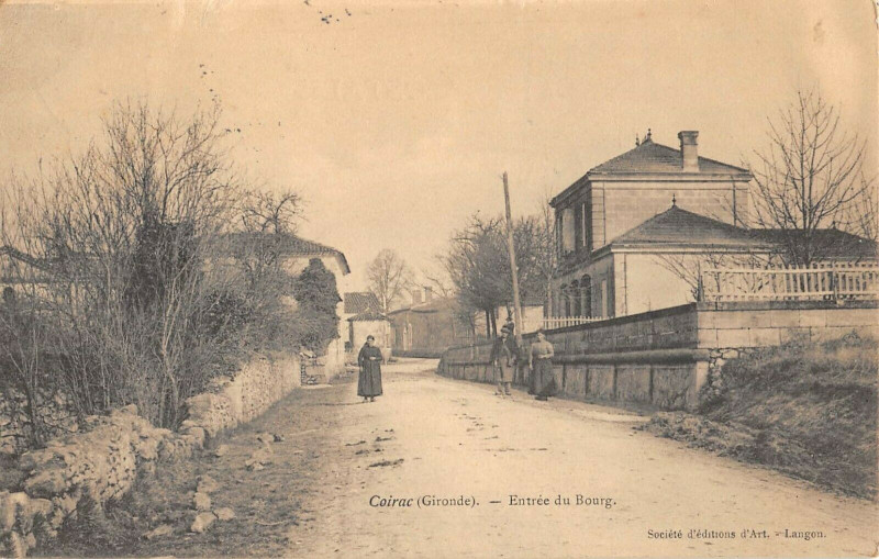 Carte postale ancienne Coirac Entree Du Bourg à Coirac