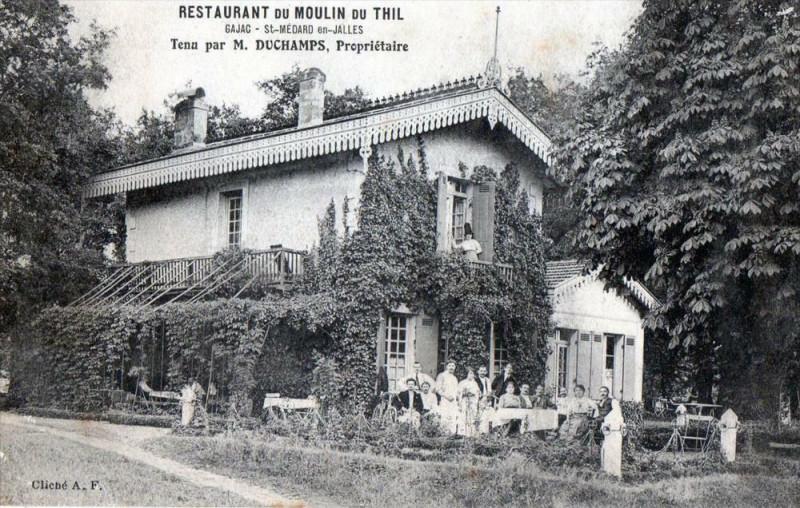 Carte postale ancienne Gajac Saint Medard En Jalles Restaurant Du Moulin Du Thill Proprietaire M à Gajac