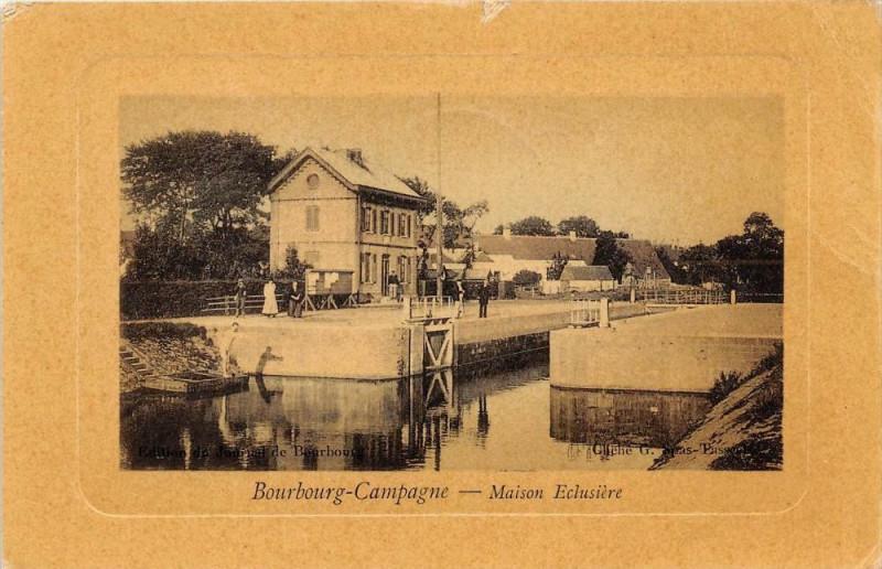 Carte postale ancienne Bourbourg Campagne Maison Eclusiere (cpa glacée pas courante à Bourbourg