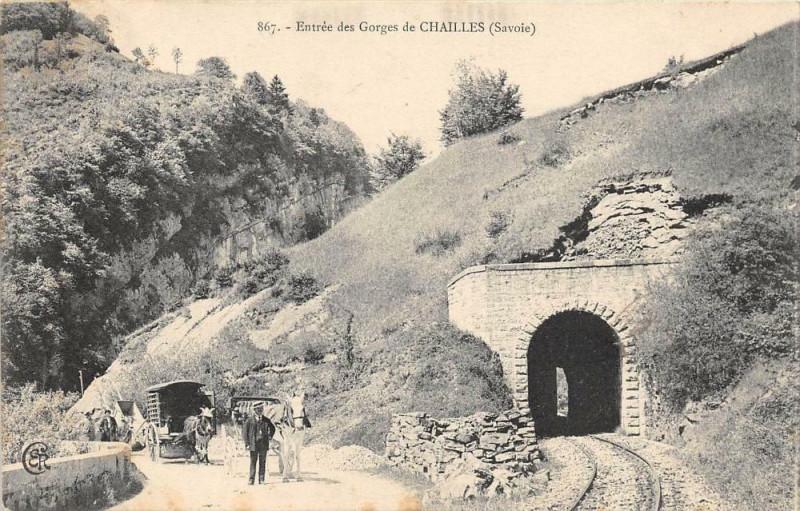 Carte postale ancienne Entree Des Gorges De Chailles Savoie