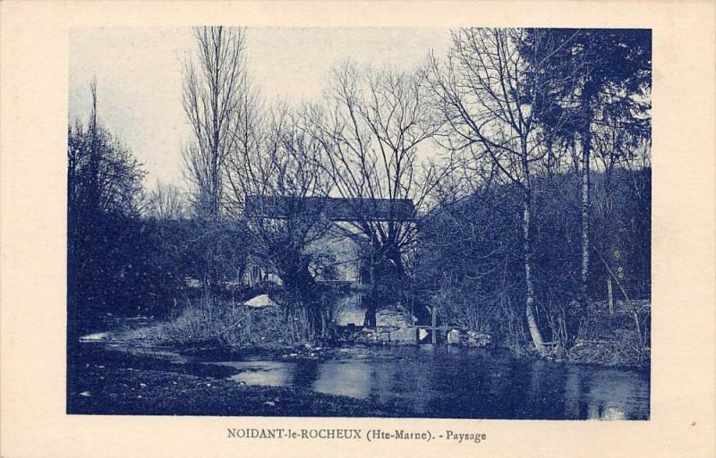 Carte postale ancienne Noidant Le Rocheux Paysage à Noidant-le-Rocheux