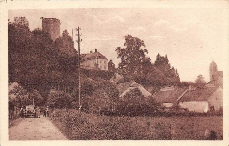 Carte postale ancienne Rupt Sur Saone La Tour Du Chateau Chemin De Chantes (cliché pas courant à Chantes