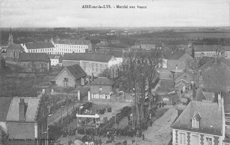 Carte postale ancienne Aire Sur La Lys Marche Aux Veaux à Aire-sur-la-Lys