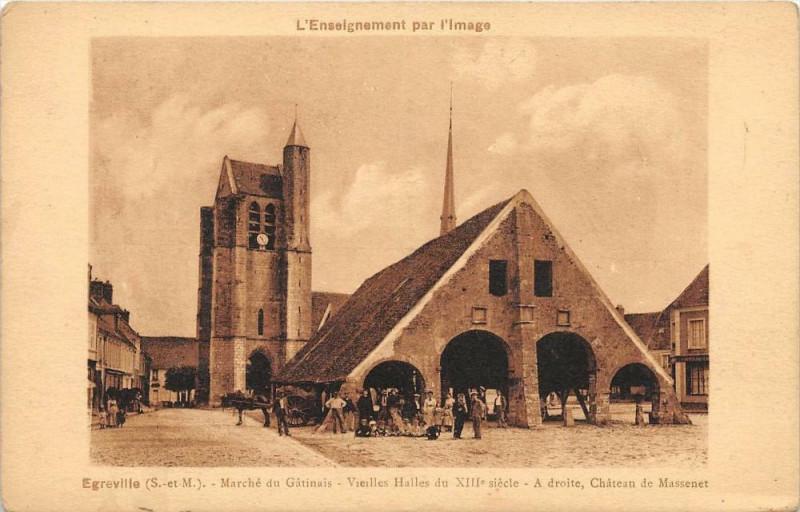 Carte postale ancienne Egreville Marche Du Gatinais (cpa rare à Égreville