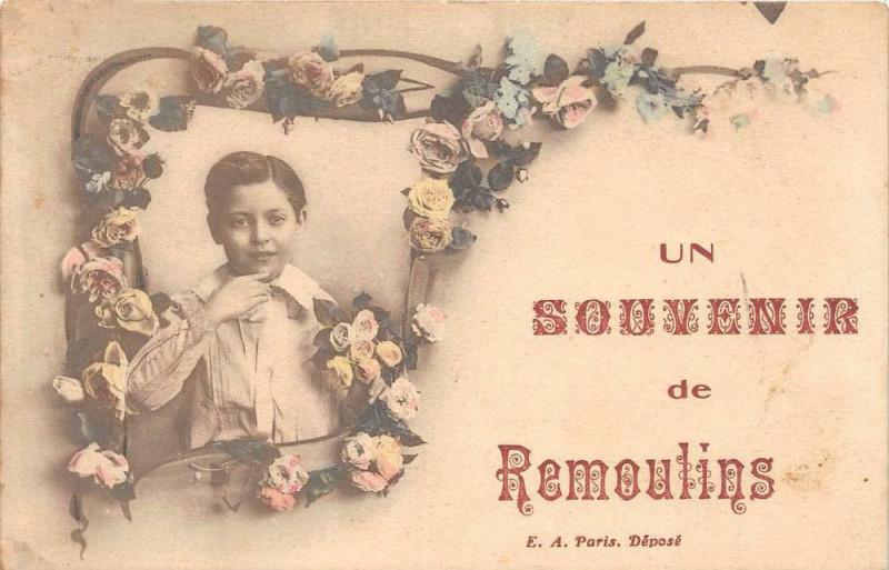 Carte postale ancienne Un Souvenir De Remoulins à Remoulins