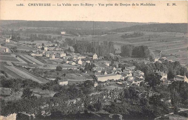 Carte postale ancienne Chevreuse La Vallee Vers Saint Remy à Chevreuse