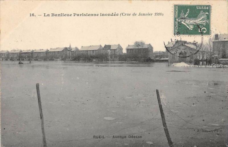 Carte postale ancienne Rueil Avenue Deesse