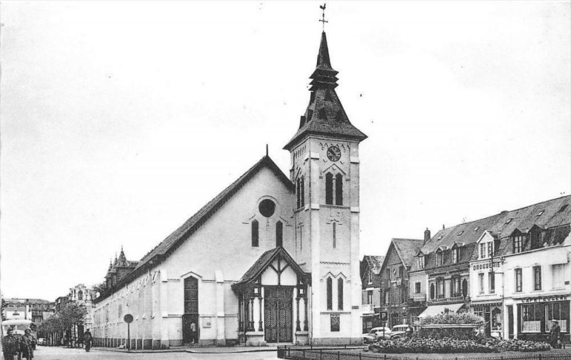 Carte postale ancienne Berck Plage L'Eglise à Berck