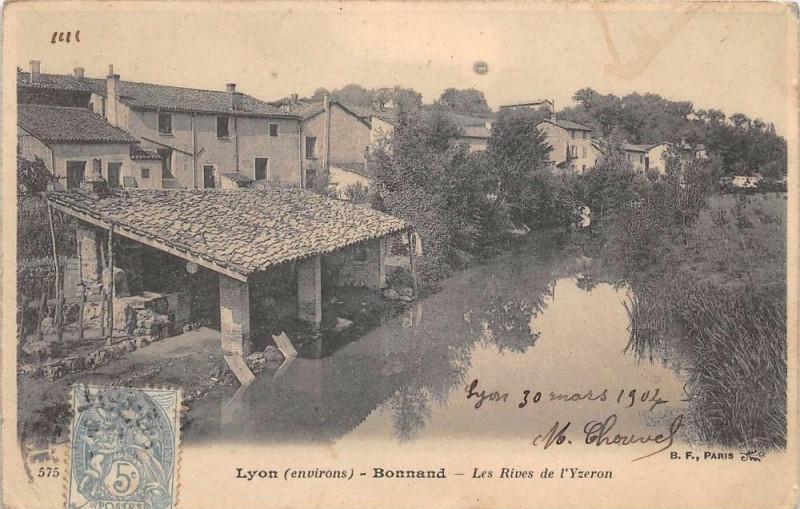 Carte postale ancienne Bonnand Les Rives De L'Yzeron (dos non divisé) à Yzeron