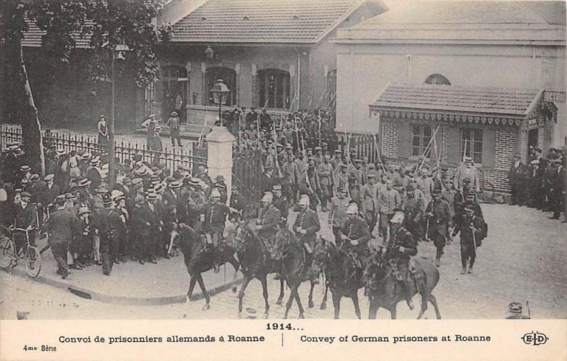 Carte postale ancienne Convoi De Prisonnier Allemands A Roanne à Roanne