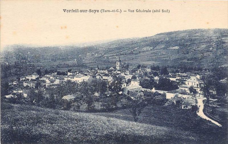 Carte postale ancienne Verfeil Sur Seye Vue Generale Cote Sud à Verfeil
