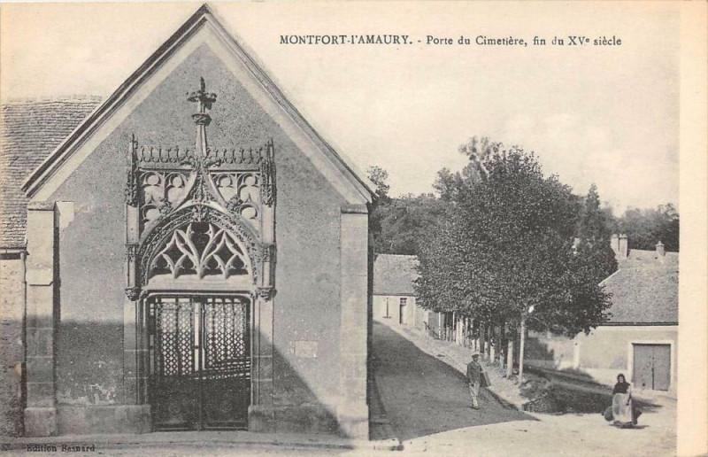 Carte postale ancienne Montfort L'Amaury Porte Du Cimetiere à Montfort-l'Amaury