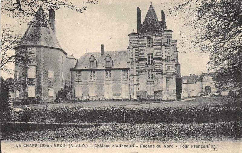 Carte postale ancienne La Chapelle En Vexin Chateau D'Allincourt à La Chapelle-en-Vexin