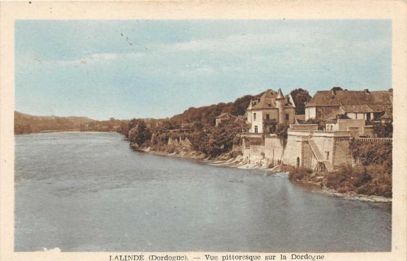 Carte postale ancienne Lalinde Vue Dordogne à Lalinde