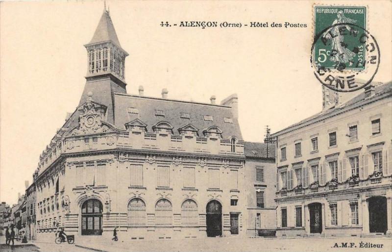 Carte postale ancienne Alencon Hotel Des Postes à Alençon
