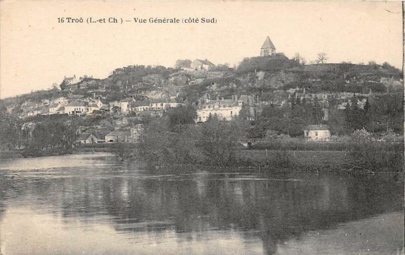 Carte postale ancienne Troo Vue Generale Cote Sud à Troo