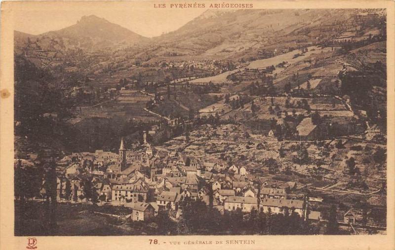 Carte postale ancienne Vue Generale De Sentein à Sentein