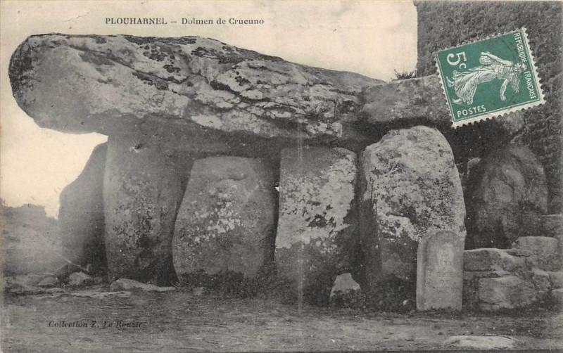 Carte postale ancienne Plouharnel Dolmen De Crucuno à Plouharnel