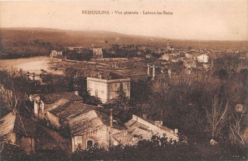Carte postale ancienne Remoulins Vue Generale Lafoux Les Bains à Remoulins