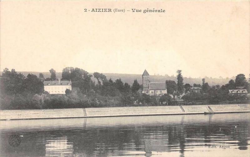 Carte postale ancienne Aizier Vue Generale à Aizier
