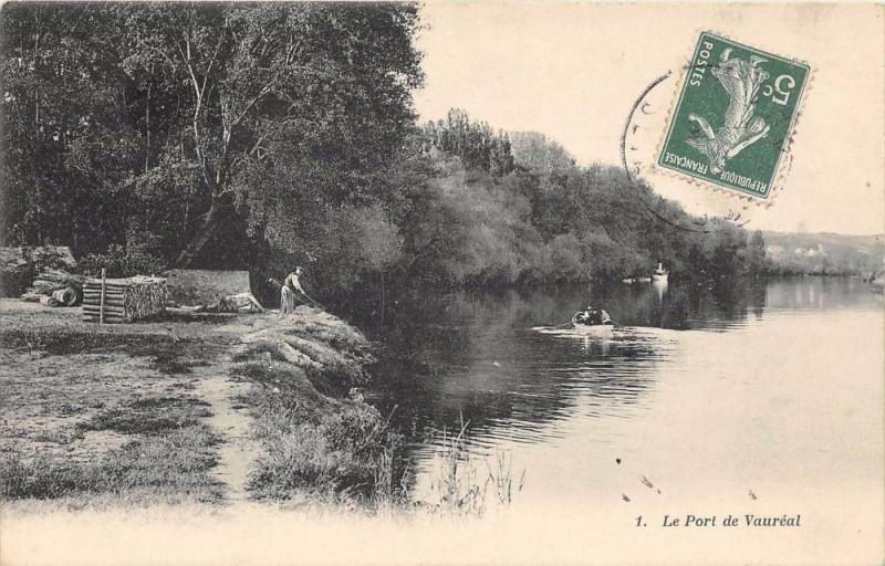 Carte postale ancienne Le Port De Vaureal à Vauréal