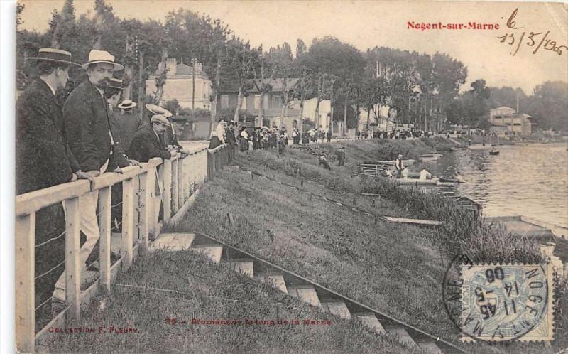 Carte postale ancienne Nogent Sur Marne Promenade Le Long De La Marne à Nogent-sur-Marne