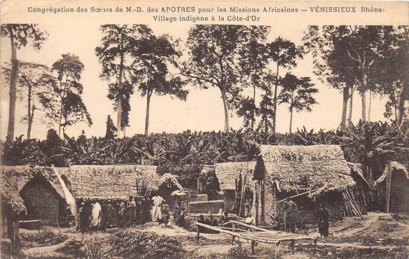 Carte postale ancienne Venissieux Congregation Des Soeurs Missions Africaine Village Indigene à Vénissieux