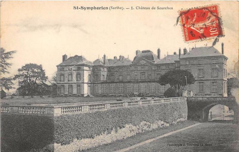 Carte postale ancienne Saint Symphorien Chateau De Sourches à Saint-Symphorien