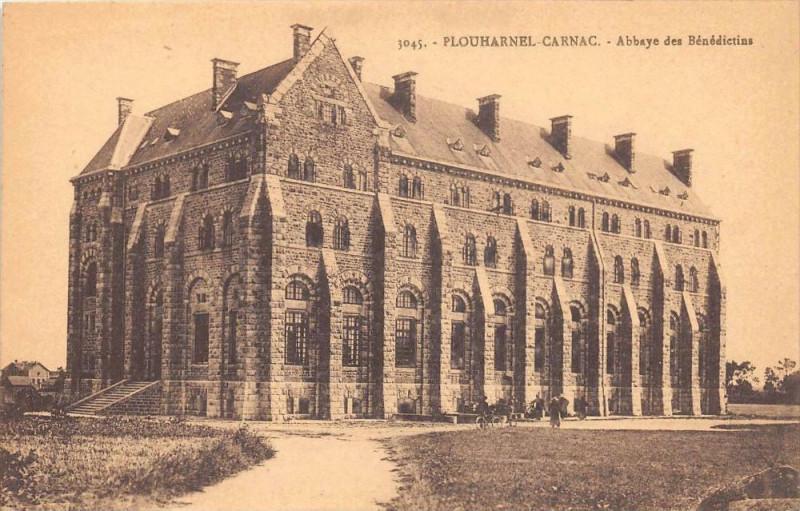 Carte postale ancienne Plouharnel Carnac Abbaye Des Benedictins à Plouharnel