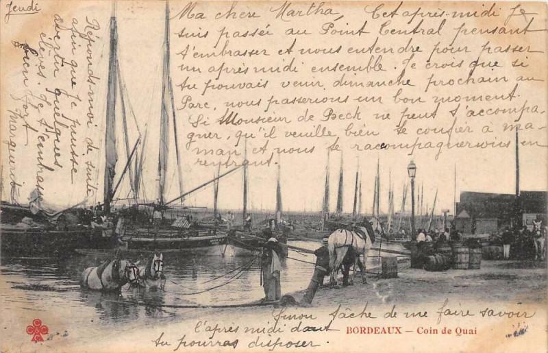 Carte postale ancienne 31 Bordeaux Coin De Quai  (dos non divisé) à Bordeaux