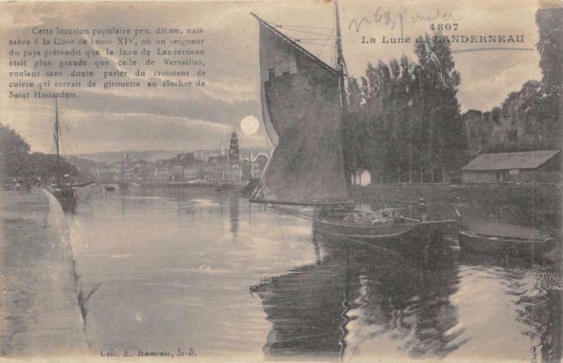 Carte postale ancienne La Lune De Landerneau à Landerneau