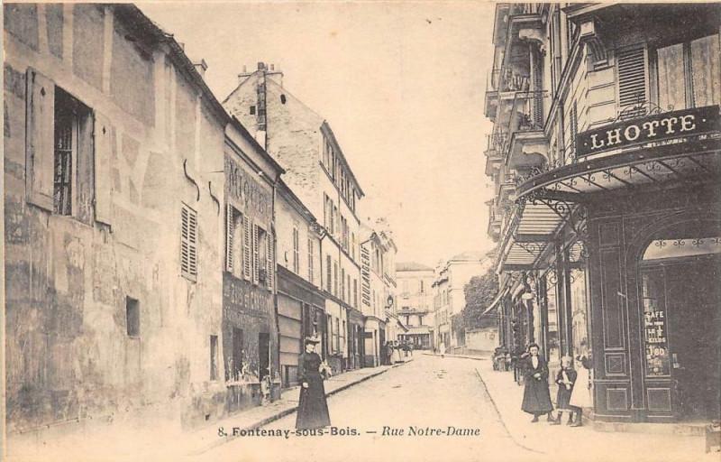 Carte postale ancienne Fontenay Sous Bois Rue Notre Dame (Dos Non Divise à Fontenay-sous-Bois