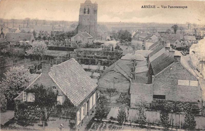 Carte postale ancienne Arneke Vue Panoramique à Arnèke