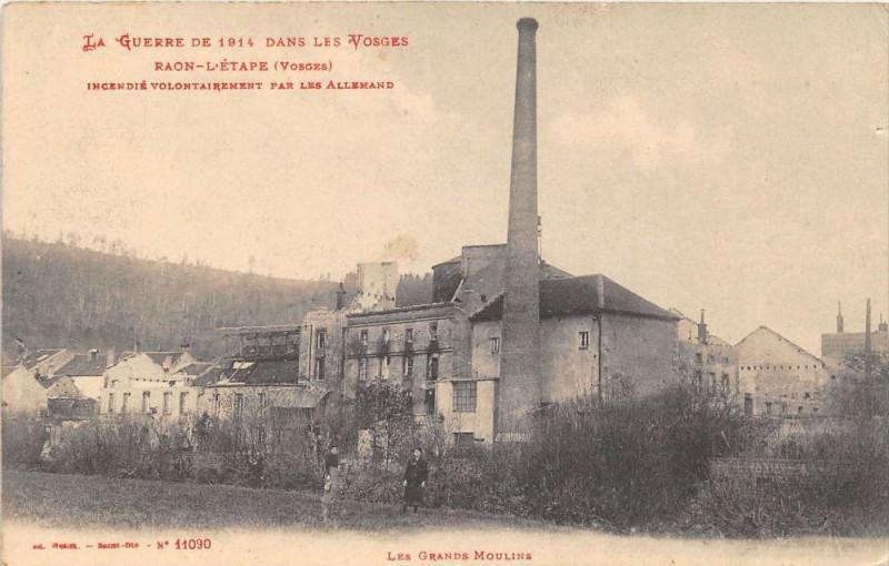 Carte postale ancienne Raon L'Etape Les Grands Moulins à Grand
