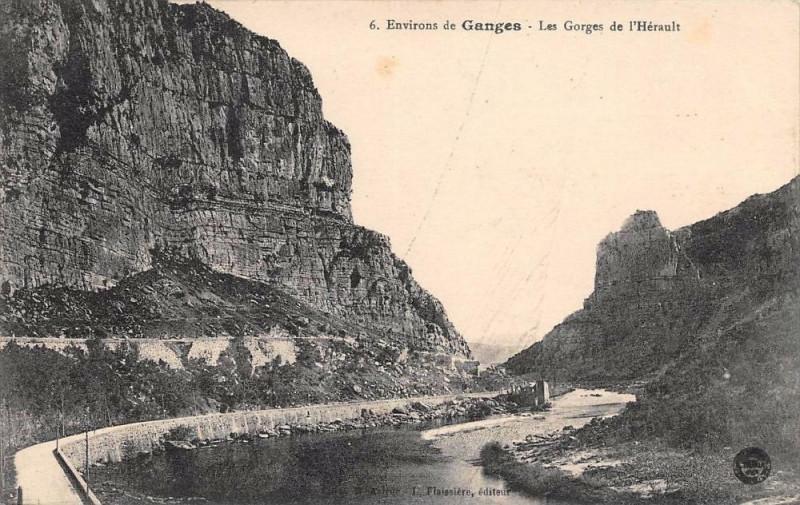 Carte postale ancienne Env.de Ganges Les Gorges De L'Herault à Ganges