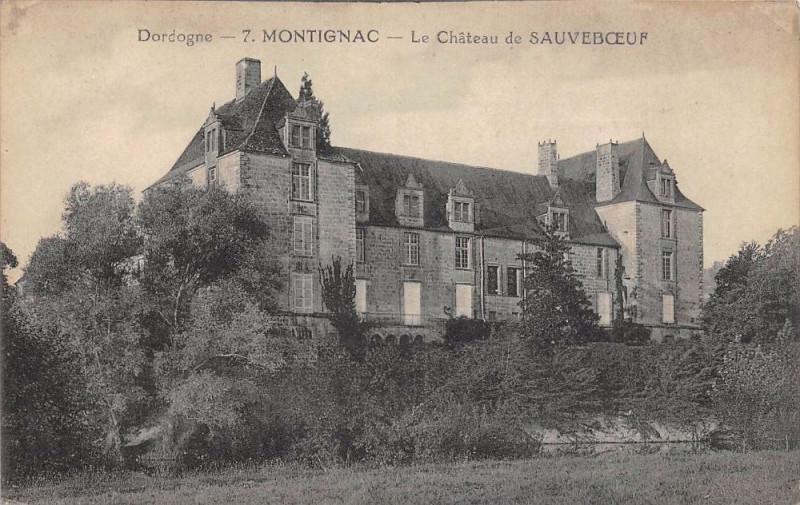 Carte postale ancienne Montignac Chateau De Sauveboeuf à Montignac