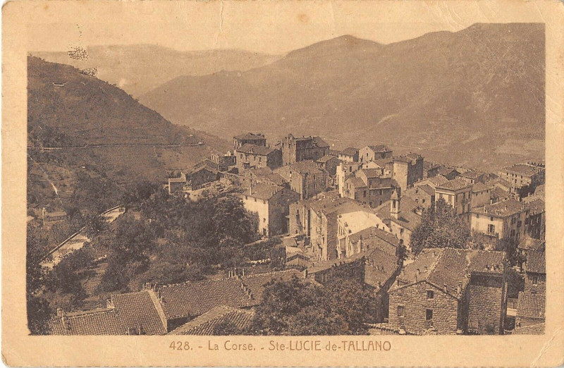 Carte postale ancienne 20 Corse Sainte Lucie De Tallano à Sainte-Lucie-de-Tallano