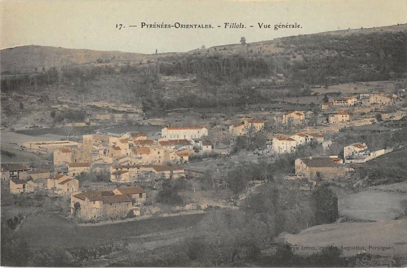 Carte postale ancienne Fillols Vue Generale à Fillols