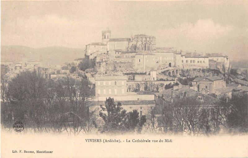 Carte postale ancienne Viviers La Cathedrale Vu Du Midi à Viviers