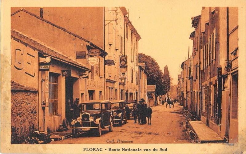 Carte postale ancienne Florac Route Nationale Vers Le Sud