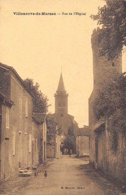 Carte postale ancienne Villeneuve De Marsan Rue De L'Hopital à Villeneuve-de-Marsan