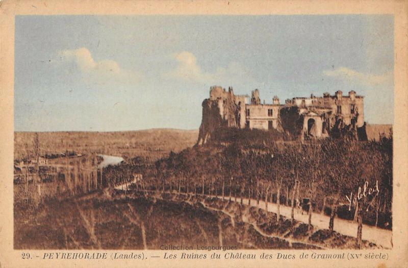 Carte postale ancienne Peyrehorade Les Ruines Du Chateau Des Ducs De Gramont à Peyrehorade