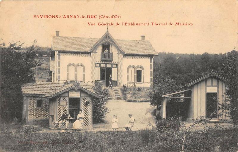 Carte postale ancienne Environs D'Arnay Le Duc Vue Generale De L'Etablissement De Maizieres à Arnay-le-Duc